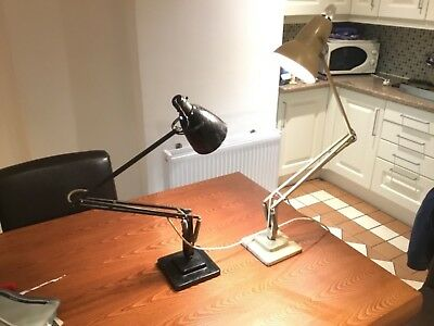 anglepoise desk lamps 2 , terry Herbert ,1,black ,1 cream , cheap !