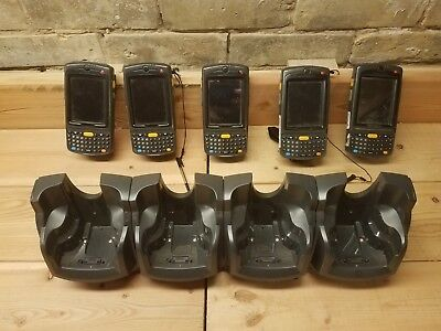 8x MOTOROLA/SYMBOL N410 BARCODE SCANNERS W/WINDOWS OS, BATTS, & CHARGER