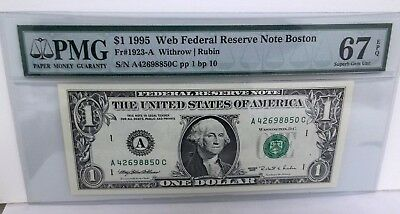 RARE *Web Note* 1995 *Blazing PMG 67* AC 1/10 SCARCE LOOK !  -FREE Shipping