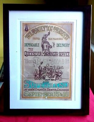 Framed Family Dog #D2 Haw Haw Postcard Quicksilver Messenger Service 1967