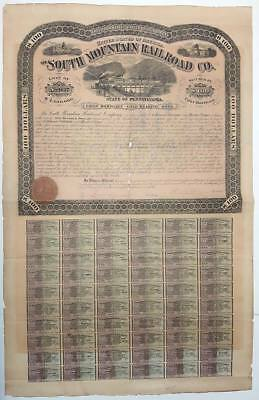 USA : The South Mountain Railroad Co.- First Mortage Gold Bond, $ 100, 1873