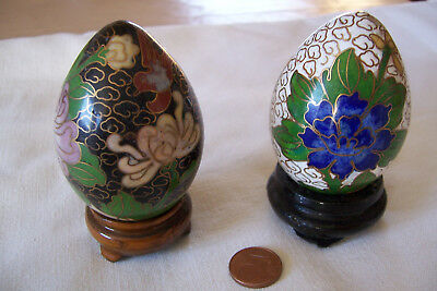 Alt Antik  Antiquitäten Vase Vasen Cloisonne China Japan Emaille Eier Handarbeit