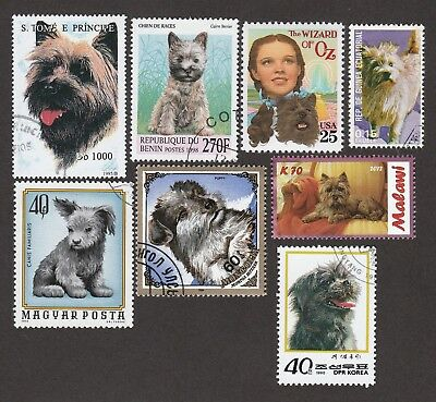 CAIRN TERRIER **Int'l Dog Stamp Collection  ** Great Gift Idea **