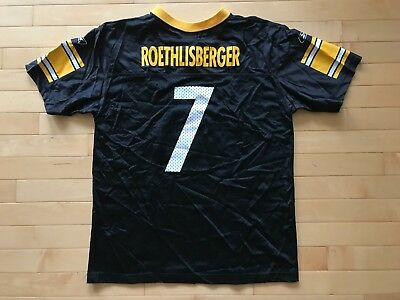 9cd215f068a Reebok NFL Pittsburgh Steelers Ben Roethlisberger Jersey Youth Size XL 18-20