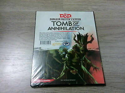 D&D 5th Edition Tomb of Annihilation DM Screen 2017 Neu New Hardcover Sealed