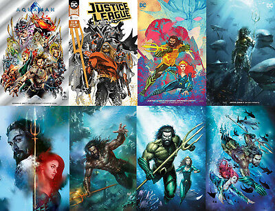 Pre-Sale: Justice League Drowned Earth AQUAMAN Movie Variant Lot NYCC Exclusive