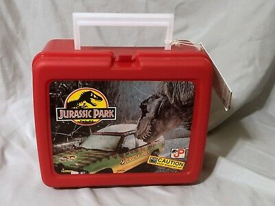 1993 Jurassic Park Plastic Lunch Box and Thermos New with Tag