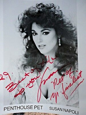 Susan Napoli Signed Autographed 8x10 Photo Penthouse Pet of the Year Finalist