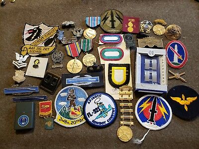 WWII US Army Navy Air Force air borne Patch Pin Insignia Crest Lot