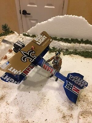 New Orleans Saints BUD NFL BEER Plane 2017 Football Who Dat Limited Edition Can