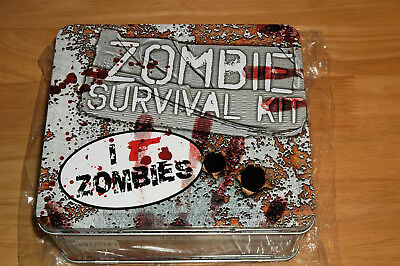 Zombie Survival Kit Metal Lunch Box, NEW