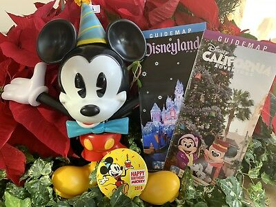Disneyland Disney Parks Exclusive Mickey Mouse 90th Birthday Sipper Cup & Maps