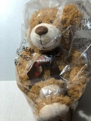 "2012 NOS Avon CURLY THE BEAR Plush Holiday Bear approx 36"". NEW IN PACKAGE!"