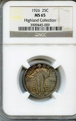1926-P Standing Liberty Quarter NGC MS-65 HIGHLAND COLLECTION