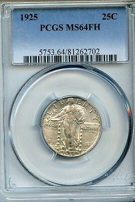 1925-P Standing Liberty Quarter PCGS MS64 FH Full Head