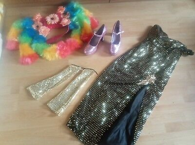 Travestie Drag Queen Kleid Pailette  JGA Set Crossfresser Pumps 44