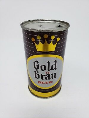 Gold Brau Flat Top Beer Can IL