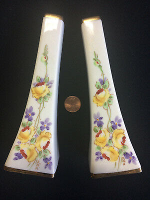 Rare Vintage DEVONSHIRE Colorful Hand Painted Porcelain Salt Pepper Shakers Set