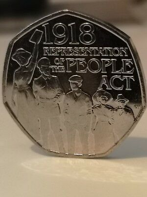 50p Representation Of The People Act 1918 - 50p Fifty Pence 2018 From Sealed Bag
