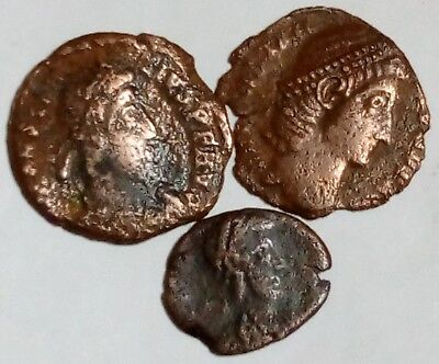 Lot Of 3 Small Roman Bronze Coins