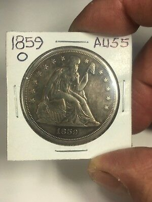 1859-O Seated Liberty Silver Dollar  Very High Grade Circulated