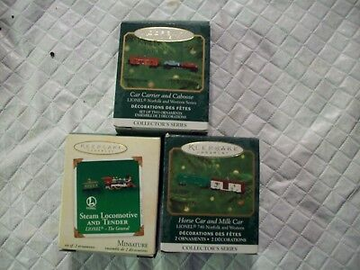 Z-Scale  Lionel Train  Christmas Ornament  (Hallmark) Lot Of 11