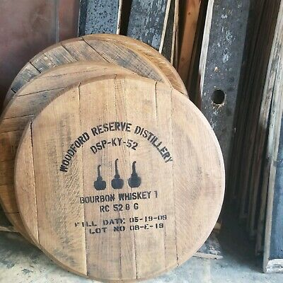 Woodford Reserve Kentucky Bourbon Barrel Head Blantons Ky Whiskey Lid Sign Tops