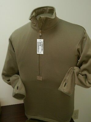 Mens Thermal Shirt ECWCS Half Zip Gen 3 Level 2 Military Tan 499 XS S M L XL XXL