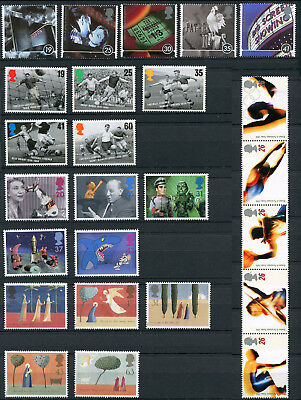 Great Britain 1996 25x Commemorative Stamps Set Mint Never Hinged - FREE UK POST