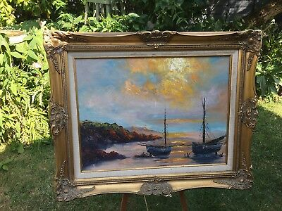 Vintage Oil Painting Unsigned