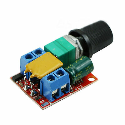 Mini DC 3V-35V 5A Motor PWM Speed Controller Speed Control Switch LED Dimmer FBH