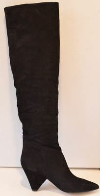 05265f7037b Marc Fisher Pagie Black Suede Over the Knee Block Heel Boots Womens Size 6  NEW