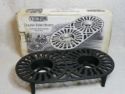 Vintage Victor Cast Ware, Double Table Heater. Cast Iron. A Robert Welch Design.