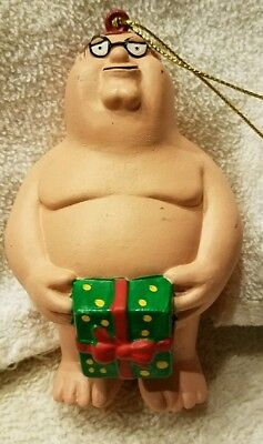 """Family Guy Christmas Holiday Ornament PETER NAKED 4"""" MINT RESIN"""