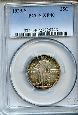 1923-S Standing Liberty Quarter, PCGS XF 40, Beautiful Coin, Slabbed & Cert