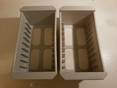 2x Nintendo NES game cartridge storage/holders/containers - holds 20 game carts