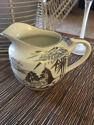 "Vintage Hand Painted Kutani Japan Fine China Creamer Pitcher BEAUTIFUL 3 1/2"" H"