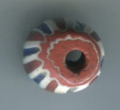 African Trade beads Vintage Venetian or Dutch very old glass chevron bead #1