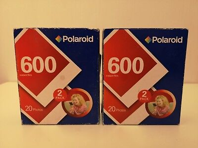 Two packs of Polaroid 600 Instant Film Expired 40 Sheets