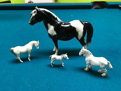 Lot of 4 Horses, Two Vintage 1970s Breyer and two 1970 Britain's Limited