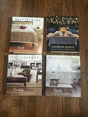 Lot of 4 Pottery Barn Decorating Books