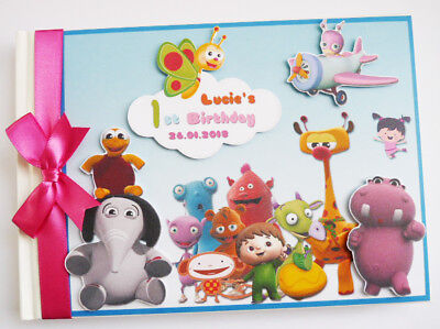 Personalised Baby Tv  Boy/girl Birthday Guest Book - Any Design