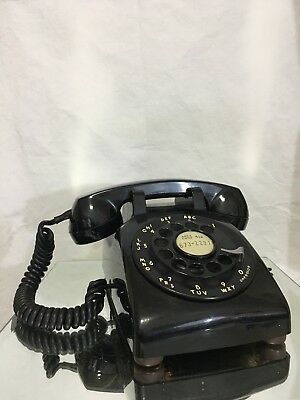 Vintage Western Electric (Bell Systems) Black 500 C/D Rotary Telephone TESTED