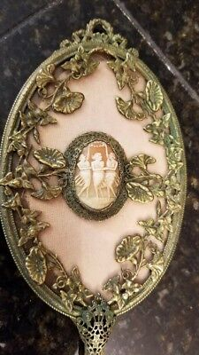 Beautiful cameo hand mirror