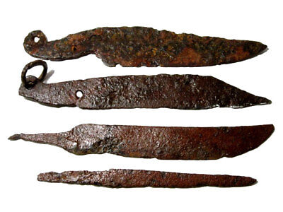 LOT OF 4pcs. ANCIENT ROMAN IRON KNIVES, WELL CLEANED AND PRESERVED!!!