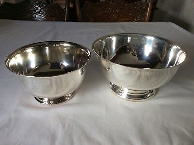Vintage Towle Silverplated Paul Revere Large and Medium Bowl Set
