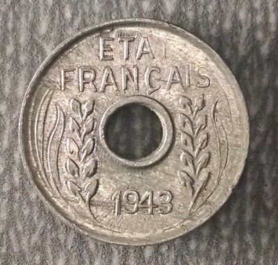 1943 French Indo-China 1 Cent KM# 26