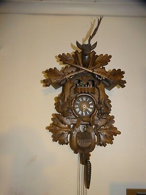 Dr. Zhivago Cuendet Cuckoo Clock Germany Edelweiss-Dancers, 3 Cones