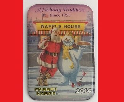 2014 WAFFLE HOUSE -A Holiday Tradition since 1955, Santa & Frosty Pin (LAST ONE)