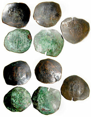 Lot of 5 Byzantine Bronzes